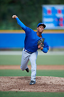 Toronto Blue Jays pitcher Yunior Hinojosa (55) delivers a pitch during an Instructional League game against the Philadelphia Phillies on October 7, 2017 at the Englebert Complex in Dunedin, Florida.  (Mike Janes/Four Seam Images)