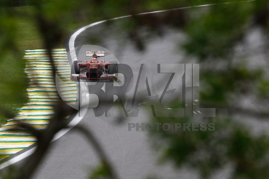 SAO PAULO, SP, 24.11.2013 - F1 GP BRASIL - O piloto brasileito Felipe Massa da equipe Ferrari durante o Grande Prêmio do Brasil de Fórmula 1, no autódromo de Interlagos, zona sul da capital paulista, neste domingo (24). (Foto: Pixathlon / Brazil Photo Press).