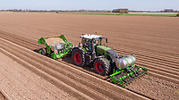 Planting potatoes - Lincolnshire, March