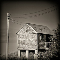 Coastal dune shack, Cape Cod, Massachusetts, USA