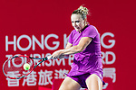 Kristina Kucova of Slovakia competes against Jelena Ostapenko of Latvia during the singles first round match at the WTA Prudential Hong Kong Tennis Open 2018 at the Victoria Park Tennis Stadium on 08 October 2018 in Hong Kong, Hong Kong. Photo by Yu Chun Christopher Wong / Power Sport Images