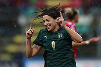 Daniela Sabatino of Italy celebrates after scoring a goal<br /> Castel di Sangro 12-11-2019 Stadio Teofolo Patini <br /> Football UEFA WomenÕs EURO 2021 <br /> Qualifying round - Group B <br /> Italy - Malta<br /> Photo Cesare Purini / Insidefoto