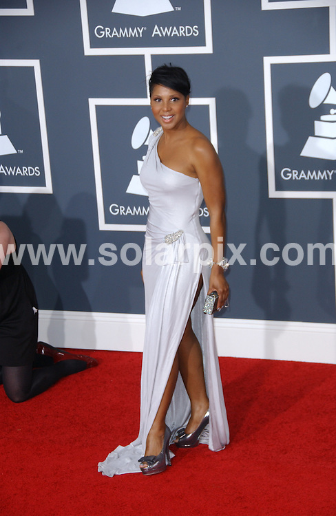 **ALL ROUND PICTURES FROM SOLARPIX.COM**.**SYNDICATION RIGHTS FOR UK, AUSTRALIA, DENMARK, PORTUGAL, S. AFRICA, SPAIN & DUBAI (U.A.E) ONLY**.arrivals for the 52nd Annual GRAMMY Awards at the Staples Center at the Los Angeles, CA, USA. 31 January 2010..This pic: Toni Braxton..JOB REF: 10591 PHZ Ortega   DATE: 31_01_2010.**MUST CREDIT SOLARPIX.COM OR DOUBLE FEE WILL BE CHARGED**.**MUST NOTIFY SOLARPIX OF ONLINE USAGE**.**CALL US ON: +34 952 811 768 or LOW RATE FROM UK 0844 617 7637**