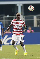 Eddie Johnson #26 of the USMNT in action against Honduras on July 24, 2013 at Dallas Cowboys Stadium in Arlington, TX. USMNT won 3-1.