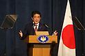Japan's Prime Minister Shinzo Abe meeting with Jordan's King Abdullah II