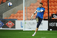 Blackpool's Chris Maxwell during the pre-match warm-up <br /> <br /> Photographer Kevin Barnes/CameraSport<br /> <br /> The EFL Sky Bet League One - Blackpool v Milton Keynes Dons - Saturday 24 October 2020 - Bloomfield Road - Blackpool<br /> <br /> World Copyright © 2020 CameraSport. All rights reserved. 43 Linden Ave. Countesthorpe. Leicester. England. LE8 5PG - Tel: +44 (0) 116 277 4147 - admin@camerasport.com - www.camerasport.com
