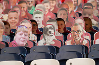 Cardboard cut out spectators, including a dog, during the Sky Bet League 2 PLAY-OFF Final match between Exeter City and Northampton Town at Wembley Stadium, London, England on 29 June 2020. Photo by Andy Rowland.