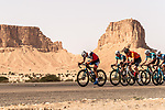 The breakaway in action during Stage 1 of the Saudi Tour 2020 running 173km from Saudi Arabian Olympic Committee to Jaww, Saudi Arabia. 4th February 2020. <br /> Picture: ASO/Kåre Dehlie Thorstad | Cyclefile<br /> All photos usage must carry mandatory copyright credit (© Cyclefile | ASO/Kåre Dehlie Thorstad)