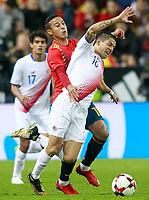 Spain's Thiago Alcantara (l) and Costa Rica's Cristian Gamboa during international friendly match. November 11,2017.(ALTERPHOTOS/Acero) /NortePhoto.com