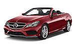 2015 Mercedes Benz E Class AMG Line 2 Door Convertible 2WD Angular Front stock photos of front three quarter view