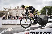 (eventual winner) Simon Yates (GBR/Mitchelton-Scott) at the start of Stage 5 (ITT): Barbentane to Barbentane (25km)<br /> 77th Paris - Nice 2019 (2.UWT)<br /> <br /> ©kramon