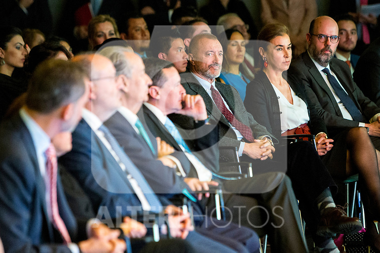 "Arturo Perez Reverte attends XXXIV International prizes of journalism ""Rey de Espana"" and the XIII edition of the prize ""Don Quijote"" of journalism in Madrid, Spain. March 27, 2017. (ALTERPHOTOS / Rodrigo Jimenez)"