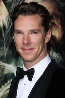 """HOLLYWOOD, CA - DECEMBER 02: Benedict Cumberbatch arriving at the Los Angeles Premiere Of Warner Bros' """"The Hobbit: The Desolation Of Smaug"""" held at Dolby Theatre on December 2, 2013 in Hollywood, California. (Photo by Xavier Collin/Celebrity Monitor)"""