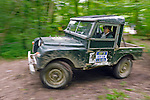 Land Rover Series 1 86inch competing at the ALRC National 2008 RTV Trial. The Association of Land Rover Clubs (ALRC) National Rallye is the biggest annual motor sport oriented Land Rover event and was hosted 2008 by the Midland Rover Owners Club at Eastnor Castle in Herefordshire, UK, 22 - 27 May 2008. --- No releases available. Automotive trademarks are the property of the trademark holder, authorization may be needed for some uses.