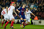 Ivan Rakitic of FC Barcelona (R2) in action during the La Liga 2017-18 match between FC Barcelona and Sevilla FC at Camp Nou on November 04 2017 in Barcelona, Spain. Photo by Vicens Gimenez / Power Sport Images