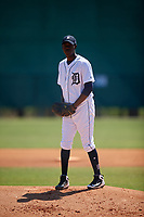 Detroit Tigers pitcher Jose Appleton (81) during a Minor League Spring Training game against the Atlanta Braves on March 22, 2018 at the TigerTown Complex in Lakeland, Florida.  (Mike Janes/Four Seam Images)