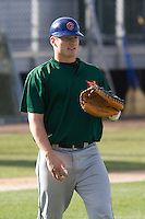 July 19, 2007: Boise Hawks' Josh Donaldson awaits a throw while working with fellow catchers on throws down to second base prior to playing against the Everett AquaSox in a Northwest League game at Everett Memorial Stadium in Everett, Washington.
