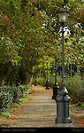 Park Path Satyr-Footed Lamp-Posts Monte alla Croci Florence