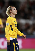 Football Soccer: UEFA Champions League AS Roma vs Atletico Madrid Stadio Olimpico Rome, Italy, September 12, 2017. <br /> Atletico Madrid's Antoine Griezmann during the Uefa Champions League football soccer match between AS Roma and Atletico Madrid at at Rome's Olympic stadium, September 12, 2017.<br /> UPDATE IMAGES PRESS/Isabella Bonotto