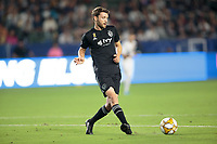 CARSON, CA - SEPTEMBER 15: Ilie Sanchez #6 of Sporting Kansas City crosses a ball during a game between Sporting Kansas City and Los Angeles Galaxy at Dignity Health Sports Complex on September 15, 2019 in Carson, California.