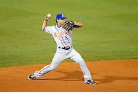 St. Lucie Mets shortstop Rylan Sandoval #5 during a game against the Bradenton Marauders on April 12, 2013 at McKechnie Field in Bradenton, Florida.  St. Lucie defeated Bradenton 6-5 in 12 innings.  (Mike Janes/Four Seam Images)
