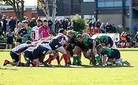 Saturday 26th September 2020 | Malone vs Ballynahinch<br /> <br /> John Dickson get set to scrum for Ballynahinch during the Ulster Senior League fixture between Malone and Ballynahinch at Gibson Park, Belfast, Northern Ireland. Photo by John Dickson / Dicksondigital