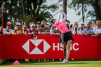Michelle Wie of USA in act during day 4 of HSBC Women's World Championship 2018 at Sentosa Golf Club, Sentosa,, Singapore, on 4  March 2018, Singapore.  Photo by : Ike Li / Prezz Images