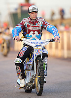 Kim Nilsson of Lakeside Hammers - Lakeside Hammers vs Kings Lynn Stars, Elite League Speedway at the Arena Essex Raceway, Pufleet - 23/04/13 - MANDATORY CREDIT: Rob Newell/TGSPHOTO - Self billing applies where appropriate - 0845 094 6026 - contact@tgsphoto.co.uk - NO UNPAID USE.