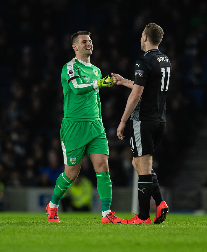 Burnley's Thomas Heaton <br /> <br /> Photographer David Horton/CameraSport<br /> <br /> The Premier League - Brighton and Hove Albion v Burnley - Saturday 9th February 2019 - The Amex Stadium - Brighton<br /> <br /> World Copyright © 2019 CameraSport. All rights reserved. 43 Linden Ave. Countesthorpe. Leicester. England. LE8 5PG - Tel: +44 (0) 116 277 4147 - admin@camerasport.com - www.camerasport.com