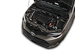 Car Stock 2018 Toyota Corolla LE-Eco-AT 4 Door Sedan Engine  high angle detail view