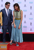 Roman Coppola + Gia Coppola @ Francis Ford Coppola Hand & Foot Print ceremony held @the TCL Chinese theatre.<br /> April 29, 2016