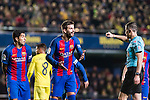 Gerard Pique Bernabeu of FC Barcelona reacts during their La Liga match between Villarreal and FC Barcelona at the Estadio de la Cerámica on 08 January 2017 in Villarreal, Spain. Photo by Maria Jose Segovia Carmona / Power Sport Images