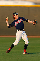 Clint Frazier #11 of the AZL Indians during a game against the AZL Giants at the Cleveland Indians Spring Training Complex on July 11, 2013 in Goodyear, Arizona. AZL Giants defeated the AZL Indians, 19-3. (Larry Goren/Four Seam Images)