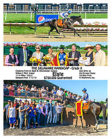 Elate winning her 2nd consecutive Delaware Handicap at Delaware Park on 7/13/19