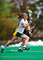 1 May 2010: University of Vermont Catamount defender/midfielder Adison Rounds, a Sophomore from Centennial, CO, in action against the University of New Hampshire Wildcats at Moulton Winder Field in Burlington, Vermont. The Lady Catamounts fell to the visiting Wildcats 18-10 in the last game of the 2010 regular season. Mandatory Photo Credit: Ed Wolfstein Photo