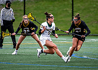 17 April 2021: University of Vermont Catamount Midfielder Ava Vasile, a Sophomore from Milford, MA, in action against the UMBC Retrievers at Virtue Field in Burlington, Vermont. The Lady Cats fell to the Retrievers 11-8 in the America East Women's Lacrosse matchup. Mandatory Credit: Ed Wolfstein Photo *** RAW (NEF) Image File Available ***