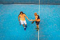 Netherlands, September 5,  2020, Amsterdam, Padel Dam, NK Padel, National Padel Championships, Mens Doubles: Berend Boers (NED) and Peter Bruijsten (NED)<br /> Photo: Henk Koster/tennisimages.com