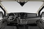 Stock photo of straight dashboard view of 2021 Ford Transit-Van - 4 Door Cargo Van Dashboard