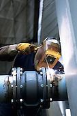 Bosnia and Herzegovina. Termoelektrana - Kakanj/Elektroprivreda BiH; man welding.