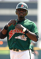 June 9, 2005:  Second Baseman Brandon Phillips of the Buffalo Bisons during a game at Dunn Tire Park in Buffalo, NY.  Buffalo is the International League Triple-A affiliate of the Cleveland Indians.  Photo by:  Mike Janes/Four Seam Images