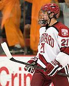 Marshall Everson (Harvard - 21) - The Harvard University Crimson defeated the visiting Bentley University Falcons 5-0 on Saturday, October 27, 2012, at Bright Hockey Center in Boston, Massachusetts.
