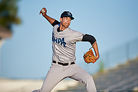 Tampa Tarpons starting pitcher Freicer Perez (37) delivers a pitch during a game against the Bradenton Marauders on April 25, 2018 at LECOM Park in Bradenton, Florida.  Tampa defeated Bradenton 7-3.  (Mike Janes/Four Seam Images)