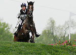 LEXINGTON, KY - APRIL 30: #7 Never Outfoxed and Holly Payne Caravella compete in the Cross Country Test for the Rolex Kentucky 3-Day Event at the Kentucky Horse Park.  April 30, 2016 in Lexington, Kentucky. (Photo by Candice Chavez/Eclipse Sportswire/Getty Images)