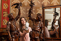 BNPS.co.uk (01202 558833)<br /> Pic: ZacharyCulpin/BNPS<br /> <br /> Pictured:  A pair of Italian walnut figures from the late 19th century. They were carved by Valentino Panciera, a master craftsman who accidentally cut off the fingers of his right hand at the age of 56 but managed to continue to carve by retraining himself and using a prosthesis, they have sold for £26,000<br /> <br /> An eclectic array of Continental figures and other unusual antiques sold for thousands of pounds with a British auction house.<br /> <br /> The sale featured a pair of Italian late 19th century walnut huntsmen figures which sold for £26,000, while an early 20th century ventriloquist's dummy in a sailor's costume which sold for £1300<br /> <br /> Other items that went under the hammer  with auctioneers Woolley & Wallis, of Salisbury, Wilts, were the Sir Michael Codron Collection of Lions, consisting of needlework, pottery and brass.