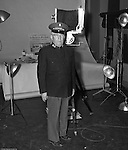 Pittsburgh PA:  Major Henry Dries from the Salvation Army at Brady Stewart Studio of a PR shot.  Major Dries directed Public Relations and Disaster Services for the Salvation Army in Pittsburgh.  In the 1960's he was promoted to Brigadier due to his exceptional job performance and standing in the community.  He was a frequent visitor to the studio due to his friendship with Brady Stewart Sr.