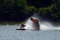 Frame 8: 40-M rides up the rooster tail of 20-M    (Outboard Hydroplane)