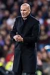 Coach Zinedine Zidane of Real Madrid looks on during their La Liga match between Real Madrid and Real Betis at the Santiago Bernabeu Stadium on 12 March 2017 in Madrid, Spain. Photo by Diego Gonzalez Souto / Power Sport Images