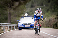 Remco Evenepoel (BEL/Deceuninck-Quickstep) training up the Coll de Rates<br /> during the january 2020 Team Deceuninck-QuickStep training camp in Calpe, Spain<br />  <br /> ©kramon