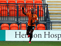 Josh Walker celebrates after scoring the third goal for Barnet during Barnet vs Barrow, Buildbase FA Trophy Football at the Hive Stadium on 8th February 2020