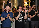 Michael Mayer with cast during the Broadway Opening Night Performance Actors' Equity Legacy Robe honoring Justin Prescott at the Hudson Theatre on July 26, 2018 in New York City.